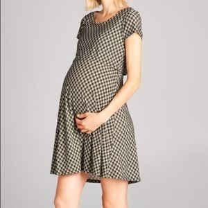 Nursing and maternity dress with cute pattern